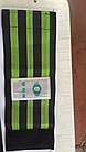 Стяжка эластичная широкая светоотражающая на ногу для защиты штанины /  штанов от попадания в цепь / звезду, фото 6
