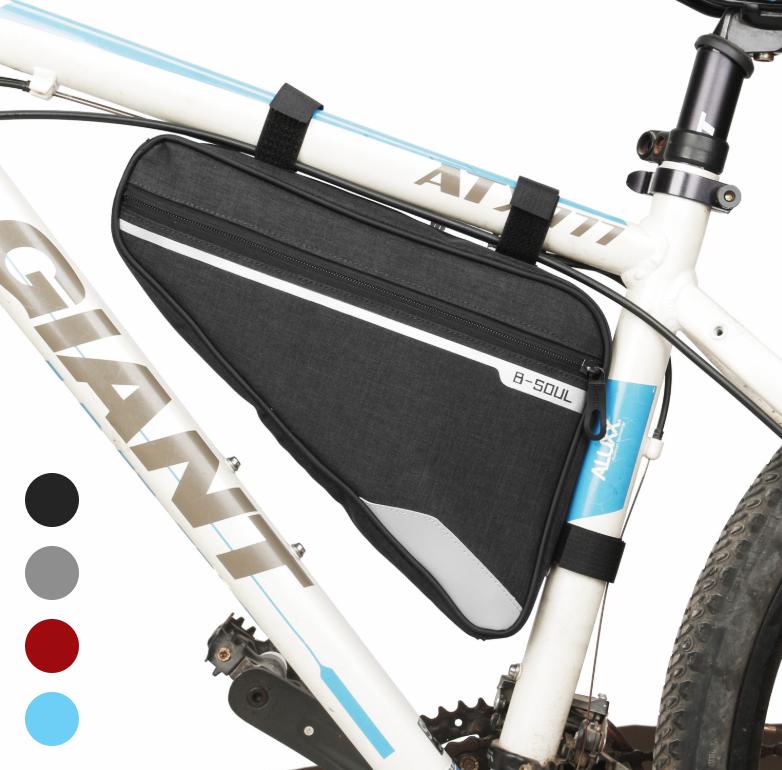 Велосумка подрамная «B-SOUL» YA250 длинная / вместительная / водоупорная / с внешним карманом быстрого доступа