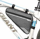 Велосумка подрамная «B-SOUL» YA250 длинная / вместительная / водоупорная / с внешним карманом быстрого доступа, фото 2