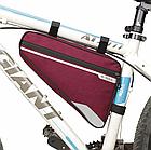 Велосумка подрамная «B-SOUL» YA250 длинная / вместительная / водоупорная / с внешним карманом быстрого доступа, фото 3