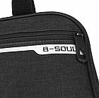 Велосумка подрамная «B-SOUL» YA250 длинная / вместительная / водоупорная / с внешним карманом быстрого доступа, фото 8