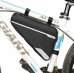 Велосумка підрамна «B-SOUL» YA250 довга / містка / водоупорная / із зовнішньою кишенею швидкого доступу ЧОРНИЙ