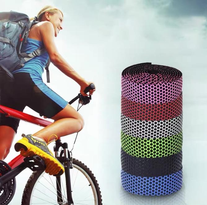 "Обмотка ""СОТИ"" самоклейка на кермо шосейного велосипеда / рульова обмотка + заглушки + липка стрічка (6 кольорів)"