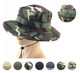 Полевая шляпа / панама широкополая для охоты / рыбалки / защита от солнца и насекомых ± сетчатая вентиляция
