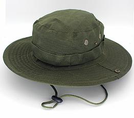 Полевая шляпа / панама широкополая для охоты / рыбалки / защита от солнца и насекомых ± сетчатая вентиляция СПЛОШНАЯ, ТЁМНО-ЗЕЛЁНЫЙ
