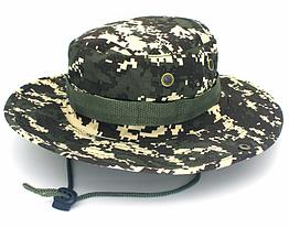 Полевая шляпа / панама широкополая для охоты / рыбалки / защита от солнца и насекомых ± сетчатая вентиляция СПЛОШНАЯ, ЦИФРОВОЙ КАМУФЛЯЖ