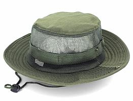 Полевая шляпа / панама широкополая для охоты / рыбалки / защита от солнца и насекомых ± сетчатая вентиляция С СЕТЧАТОЙ ВЕНТИЛЯЦИЕЙ, ТЁМНО-ЗЕЛЁНЫЙ