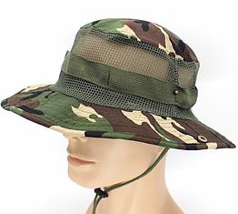 Полевая шляпа / панама широкополая для охоты / рыбалки / защита от солнца и насекомых ± сетчатая вентиляция С СЕТЧАТОЙ ВЕНТИЛЯЦИЕЙ, ЗЕЛЁНЫЙ КАМУФЛЯЖ