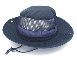 Полевая шляпа / панама широкополая для охоты / рыбалки / защита от солнца и насекомых ± сетчатая вентиляция С СЕТЧАТОЙ ВЕНТИЛЯЦИЕЙ, ТЁМНО-СИНИЙ