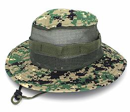 Полевая шляпа / панама широкополая для охоты / рыбалки / защита от солнца и насекомых ± сетчатая вентиляция С СЕТЧАТОЙ ВЕНТИЛЯЦИЕЙ, ЦИФРОВЫЕ ДЖУНГЛИ