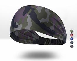 Пов'язка двошарова «North Flag» еластична від поту COOLMAX / ширина 8 см / JH-C-A16 / A16 - «камуфляж»