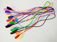 Шнурок / хлястик силиконовый на дужки очков для ношения на шее / страховки от падения / длинный 52 см