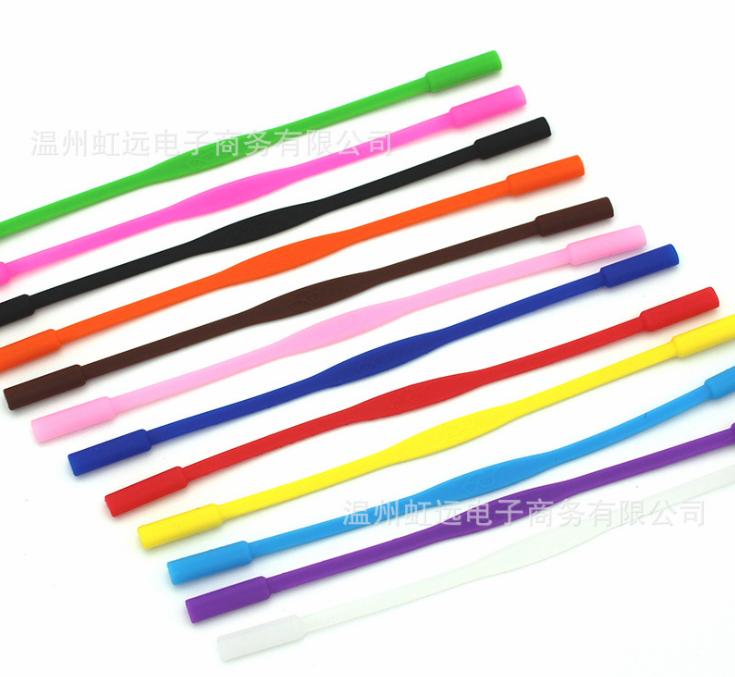 Шнурок / хлястик силиконовый на дужки детских очков для ношения на шее / страховки от падения (длина 17 см)