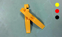 Лопатки бортировочные улучшенные цветные (бортировки / монтажки) для снятия вело-покрышек