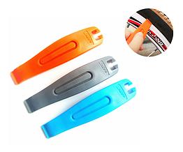 Лопатки бортировочные армированные цветные (бортировки / монтажки) для снятия вело-покрышек
