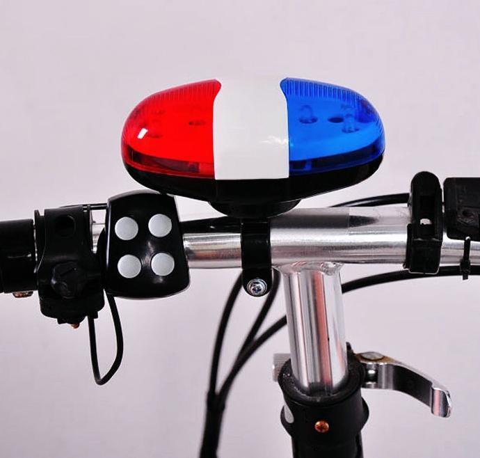 Сигнал на руль + мигалка полицейская 2-в-1 с выносным пультом на 4 кнопки (4 вида сигнала)