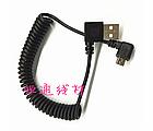 Кабель USB - microUSB растягивающийся «кудряшка» 40 - 140 см /  2 х угловых штекера / походный / туристический, фото 2