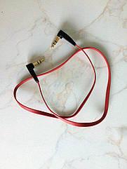 Аудио 3.5 мм - 3.5 мм mini-jack кабель плоский «лапша» 53 см / 2 х угловых штекера / походный / туристический