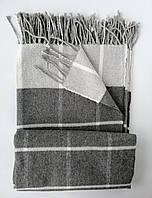 Классический серый плед из хлопка, приятный к телу и качественный, 140*200 см