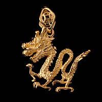Талисман Подвеска Золотой Дракон