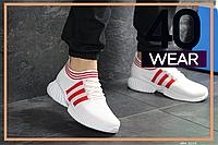 Мужские кроссовки Wonex, белые с красным