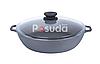 Жаровня чугунная Биол сковорода со стеклянной крышкой 26 см 03261с