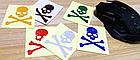 Наклейки універсальні світловідбиваючі «Череп» (6 кольорів), фото 3