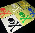 Наклейки універсальні світловідбиваючі «Череп» (6 кольорів), фото 8