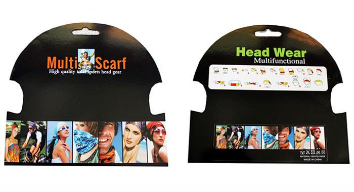 Картонка / упаковка для бафа / бандани подарункова / для роздрібної торгівлі / виставкова