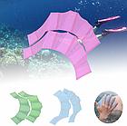 Рукавички з перетинками для плавання з силікону / ласти для рук для дорослих і дітей (3 кольори), фото 2