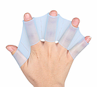 Рукавички з перетинками для плавання з силікону / ласти для рук для дорослих і дітей (3 кольори), фото 4
