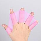 Рукавички з перетинками для плавання з силікону / ласти для рук для дорослих і дітей (3 кольори), фото 6