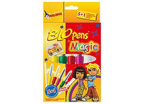 Воздушные фломастеры-аэрографы Malinos Magic волшебные, 6 шт - 149652