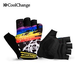 Перчатки велосипедные CoolChange 91033 беспалые сверхмягкие (толщина подушек 5 мм) РАЗМЕРЫ: M - 2XL ЧЁРНЫЙ, XL