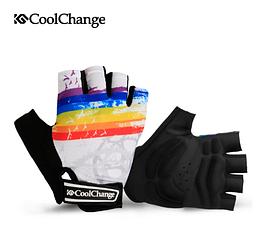 Перчатки велосипедные CoolChange 91033 беспалые сверхмягкие (толщина подушек 5 мм) РАЗМЕРЫ: M - 2XL БЕЛЫЙ, 2XL
