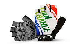 Перчатки велосипедные CoolChange 91035 беспалые лёгкие с петлями для снятия + цепкая накатка (РАЗМЕР L) БЕЛЫЙ, L