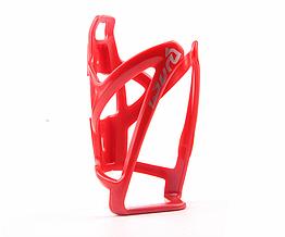 Флягодержатель велосипедный / крепление для фляги пластик / диаметр фляги до 80 мм / 50 г / 4 цвета КРАСНЫЙ