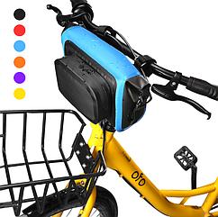 Сумка нарульная / гермомешок / сумка на руль / велосумка бытовая походная водоупорная цветная (6 цветов)