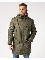 Мужская зимняя куртка-парка  Riccardo Long 3 Хаки