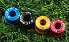Бонки кольорові «MUQZI» АЛЮ 7075 ЧПУ CNC для шатунів (для систем на одну / дві зірки) ПОШТУЧНО, фото 8