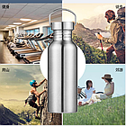 Фляга / бутылка походная / туристическая из нержавеющей стали, однослойная 1000ml / 750ml / 500ml / 350ml, фото 5