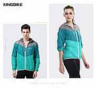 Дощовик / куртка вітровка KINGBIKE L115 / L114 ПОЛЕГШЕНА (90 г) +капюшон +кишеня, фото 6