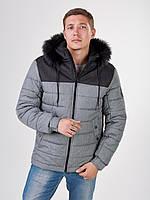 Мужская зимняя куртка Riccardo Short Серая