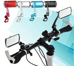Зеркало заднего вида вело / мото на руль (алюминий / стекло, три степени свободы, 4 цвета)