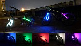 Подсветка диодная иллюминация «WIM» на вилку / верхние перья велосипеда (питание 2 х 2032)