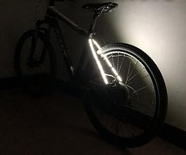 Подсветка диодная иллюминация «WIM» на вилку / верхние перья велосипеда (питание 2 х 2032) БЕЛЫЙ