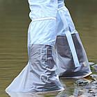 Водонепроницаемые ливневые мото / вело бахилы / калоши / галоши / чехлы для обуви / драйстепперы ПВХ (ВЫСОКИЕ), фото 2