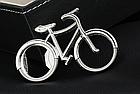 Відкривачка декоративна / брелок на ключі у вигляді вело велосипеда, фото 4