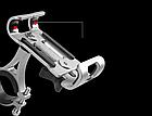 Крепление вело на руль для телефона АЛЮ с высокими бортами (для толстых устр-в, толщина до 15 мм) ± ПОВОРОТНОЕ, фото 3