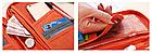 Органайзер туристический / дорожный / авиа для документов билетов паспортов с лямкой на руку 26 * 15 см, фото 8